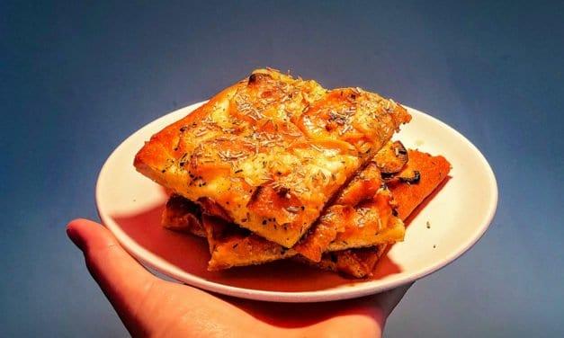 Funky shit: Süßkartoffel-Rosmarin-Pizza